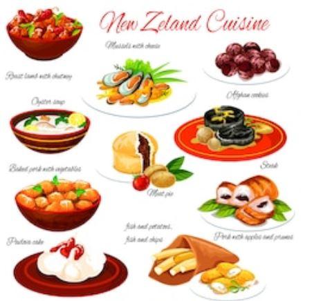 cocina en Nueva Zelanda