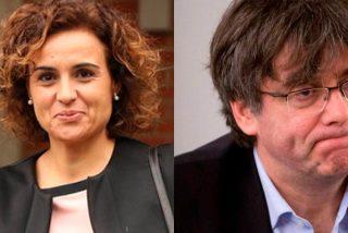 """Dolors Montserrat baja a Puigdemont de su fantasía del exilio: """"No digas mentiras, eres un fugado de la justicia"""""""