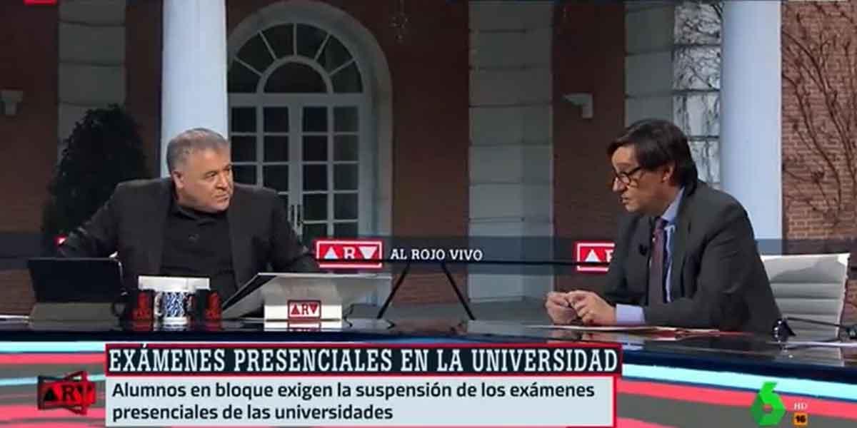 Ferreras, (des)compuesto y sin titulares: Illa va hasta el plató de laSexta para no decir nada en pleno repunte de casos