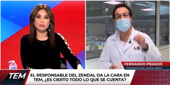 El coordinador general del Zendal hace tragarse a Marta Flich los bulos que había comprado sobre el hospital