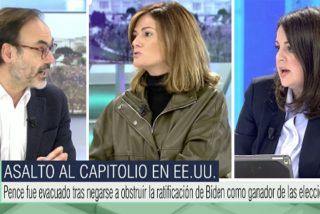 Chaparrón a Fernando Garea en Telecinco por lanzarse contra VOX mientras defiende a los que 'rodean' parlamentos