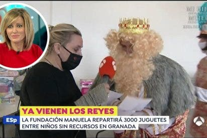 """El rey Gaspar deja de piedra a Susanna Griso: """"Tenemos carbón para los directores de 'Espejo Público'"""""""