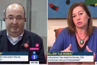 El Gobierno redobla su propaganda en TVE: el mentiroso Iceta y la poco ejemplar Armengol, 'entrevistados' por Mónica López