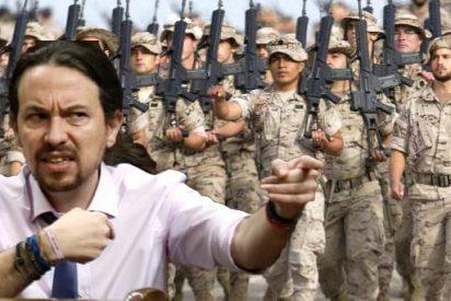 Iglesias desata la 'guerra progre' contra el Ejército y se querella contra un coronel retirado