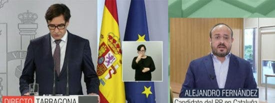 Alejandro Fernández (PP) da la 'bienvenida' a Illa a unas elecciones catalanas salvajes con un sonoro palo