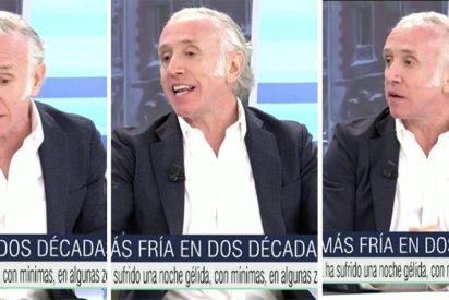 """Eduardo Inda invoca desde Telecinco al vicepresidente 'desaparecido' bajo la nevada: """"¿Dónde está Iglesias?"""""""