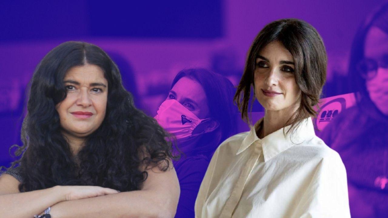 """La secta 'queer' que apoya Irene Montero acosa a Paz Vega y amenaza a Lucía Etxebarria: """"Vas a aprender... a palos"""""""