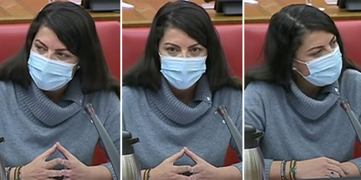 """Tirón de orejas de Macarena Olona a todos los diputados: """"¡Yo les señalo! ¡Cómo tienen tan poca vergüenza!"""""""