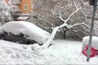 Un tsunami de nieve colapsa Madrid