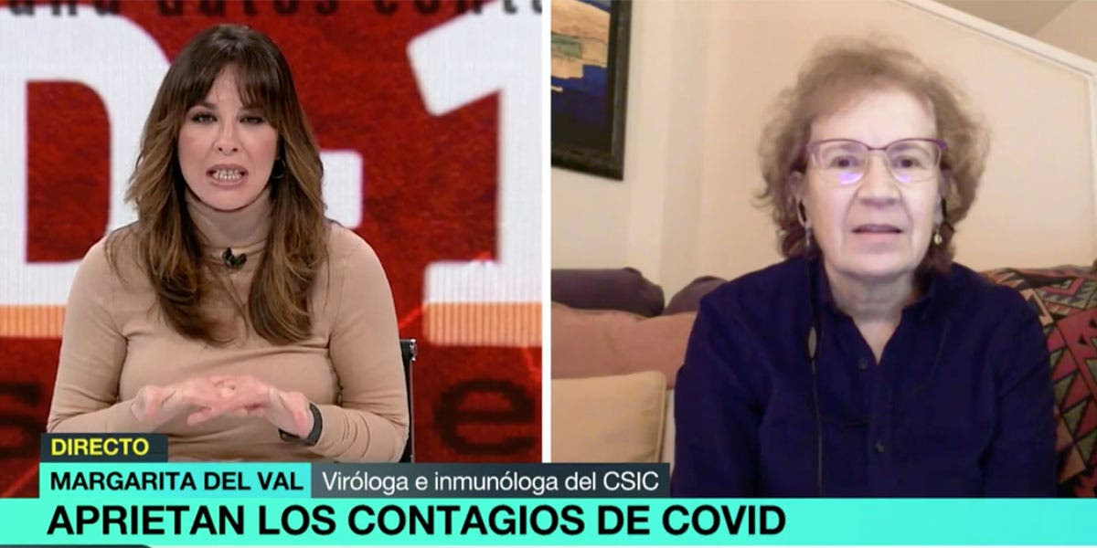 Tunda de palos de la viróloga Margarita del Val a las preguntas bobas de Mamen Mendizábal