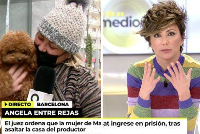 La bronca de Sonsoles Ónega a Mayka Navarro por liarla a lo salvaje en un directo