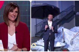 'Isobaras' Mónica López pelotea a sus jefes en TVE festejando una burla contra Pablo Casado