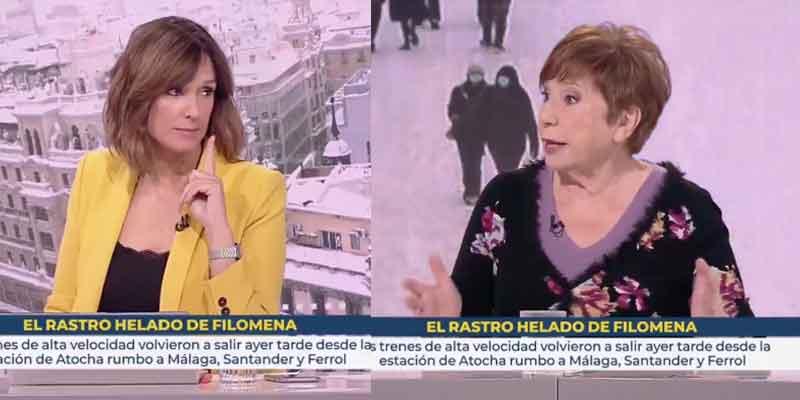 Celia Villalobos se deshace en elogios hacia Telemadrid en plena tertulia de Televisión Española