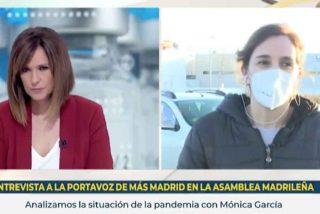 Mónica López (TVE) invita a la 'pistolera de Errejón' para que dispare gratuitamente contra el Zendal de Ayuso