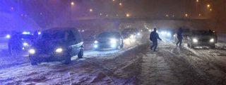"""La odisea de un conductor atrapado durante la noche en las nevadas: """"En diez horas apenas recorrí un kilómetro"""""""