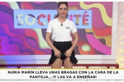 Bragas con la cara de Isabel Pantoja: la nueva moda de Telecinco para que las presentadoras se despeloten