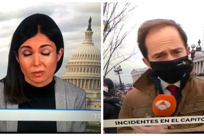 ¡Espantosa TVE! El Telediario de Franganillo despacha el asalto al Capitolio con un croma y un tuit de Sánchez
