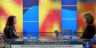 Macarena Olona silencia a Mónica López y apalea a los jefes del 'Frente Popular' de RTVE