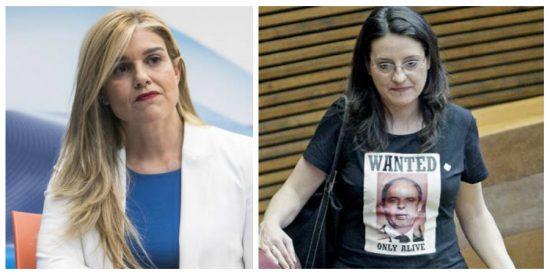 """Eva Ortiz (PP): """"Nos gustaría ver ahora a Oltra con la camiseta del 'Wanted' y la cara del hermano de Ximo Puig"""""""