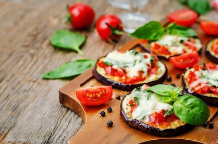 Pizzas de berenjenas