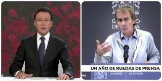 Matías Prats somete a Fernando Simón a un escarnio público con el vídeo de sus meteduras de pata