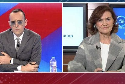 El 'pellizco' de Carmen Calvo a Fernando Simón en Cuatro deja a Risto a medias