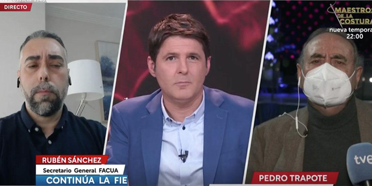 """El dueño de la discoteca Barceló pone en su sitio a Rubén Sánchez (Facua) y Cintora en TVE: """"¡Quieren criminalizarnos!"""""""