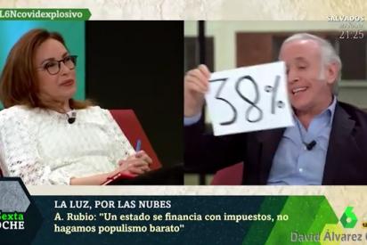 La chispa de Inda para rebatir a una Angélica Rubio empeñada en salvar a Sánchez por la subida de la luz