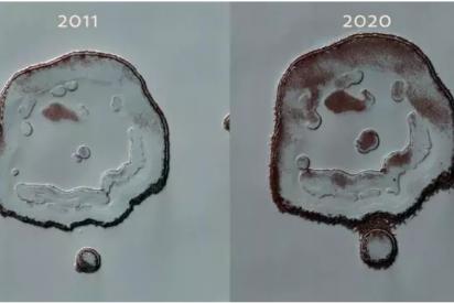 Así está cambiando la 'sonrisa' oculta en Marte
