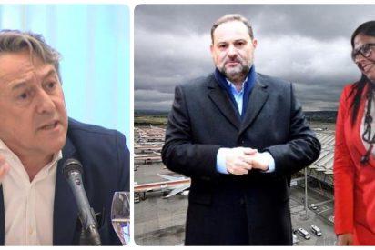 """Tertsch sopapea a Ábalos por el caos aéreo durante 'Filomena': """"Si no está Delcy, pierde interés por Barajas"""""""