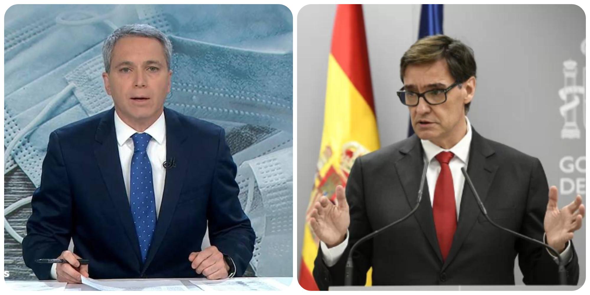 """Vicente Vallés: """"La actitud de Illa como ministro-candidato provoca que la desconfianza anide entre nosotros"""""""