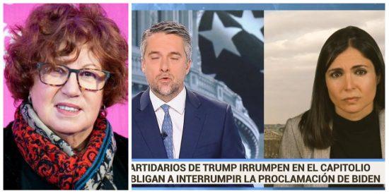 Villacastín alaba a TVE por la cobertura del asalto al Capitolio y el chorreo que se lleva es demoledor