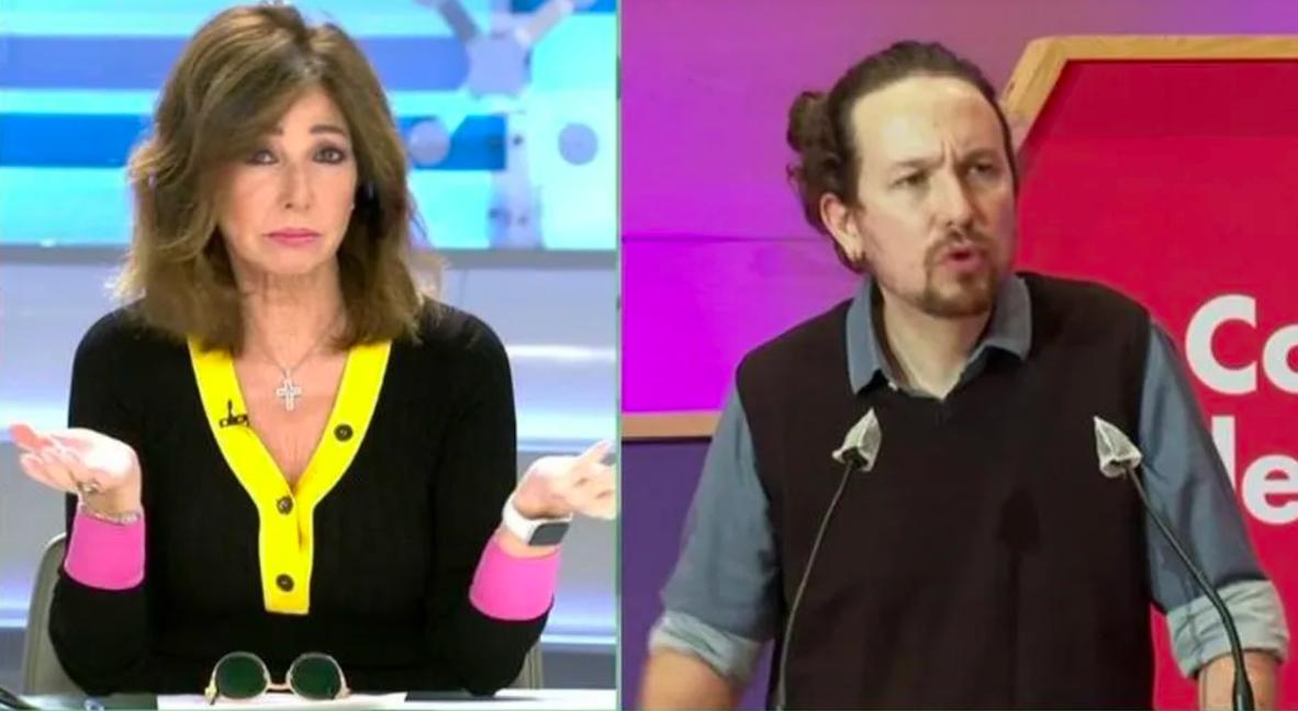 """Ana Rosa sacude en los morros a Pablo Iglesias por sus 'gilipolleces': """"Te tienes que marchar del Gobierno"""""""