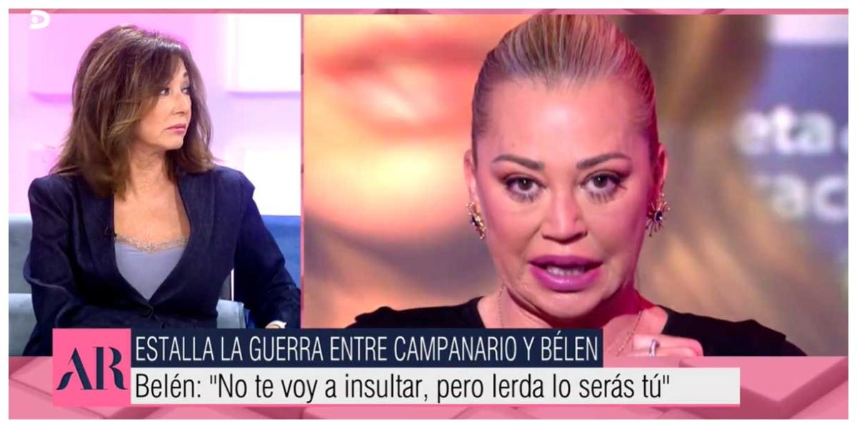 La inesperada reacción de Ana Rosa Quintana sobre la guerra entre Belén Esteban y María José Campanario