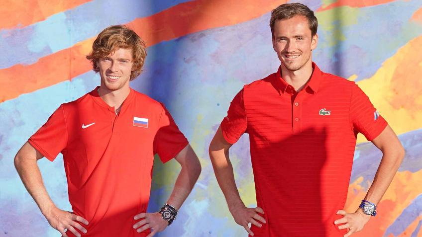 La Rusia de Rublev y Medvedev arrolla a la Italia de Fognini y Berrettini y gana la ATP Cup