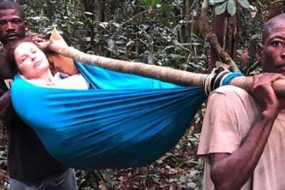 La actriz Ashley Judd sufre un accidente de cine buscando monos en la selva del Congo