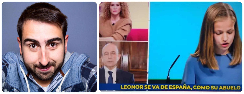 """El rotulista despedido de TVE reincide en sus memeces: """"Me han despedido, como al abuelo de Leonor"""""""