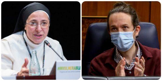 """La monja Caram no comulga con Iglesias: """"Un estafador como él hace que no tengamos una democracia plena"""""""