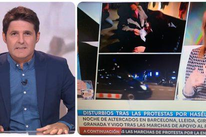 Cintora blanquea en TVE a los facinerosos 'haselianos' que reventaron Madrid y Barcelona
