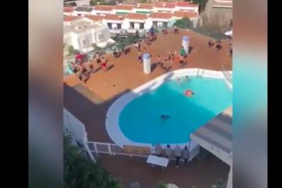 Vídeo viral fuerza a actuar a la Guardia Civil: inmigrantes gozan en la piscina de un lujoso hotel