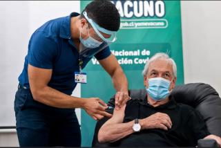 El presidente Sebastián Piñera, vacunado contra el coronavirus