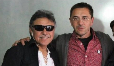El narcoterrorista Jesús Santrich, 'amiguete' de Monedero, amenaza de muerte al presidente de Colombia