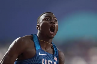 Récord mundial en Madrid:El estadounidense Grant Holloway logra la mejor marca de 60 metros vallas