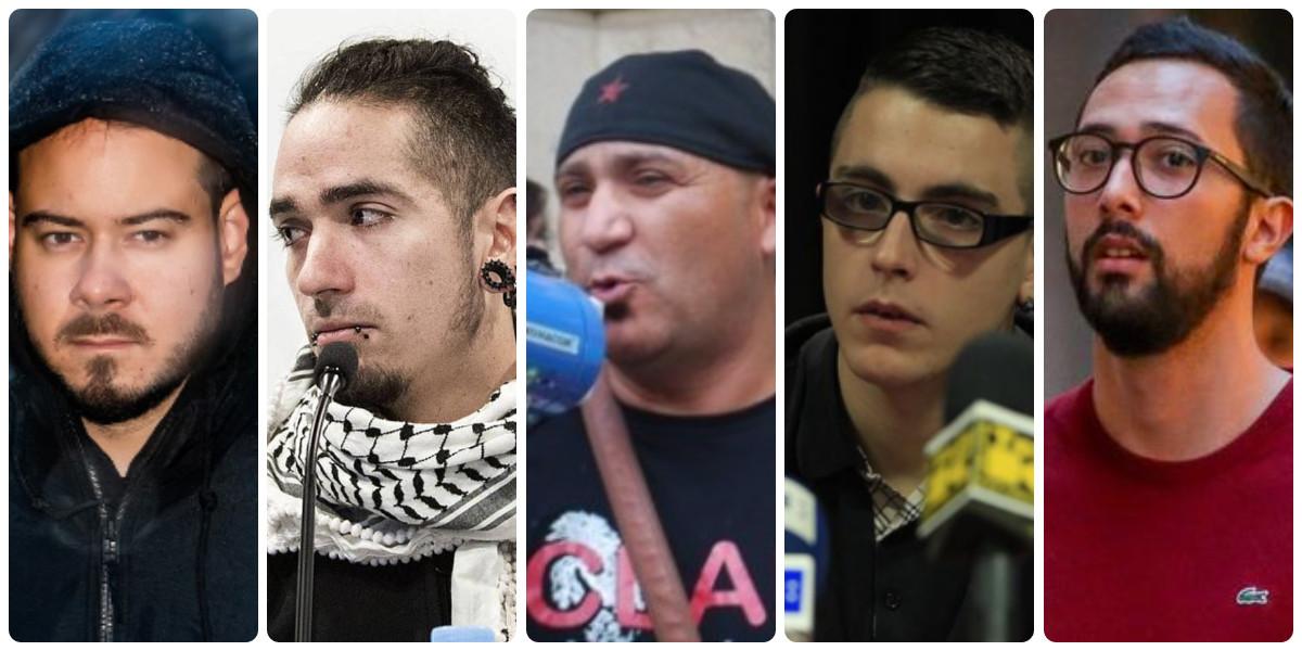 Hasel y el póker de delincuentes apoyados por Pablo Iglesias: Valtonyc, Bódalo, Lanza y 'Alfon'