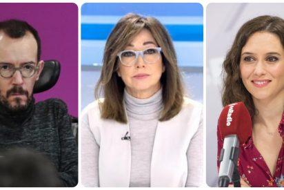El amnésico Echenique, que acusó a Ana Rosa y a Ayuso de alentar manifestaciones mortales, se apunta al 8-M