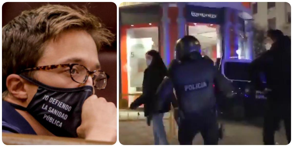 Twitter caza a Errejón manipulando un vídeo para dejar mal a la Policía y victimizar a los violentos de Hasel