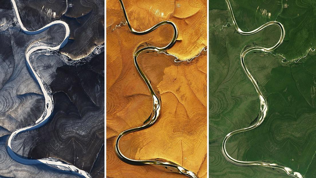 Estas imágenes del norte de Siberia, captadas por la NASA, dejan perplejos a los científicos