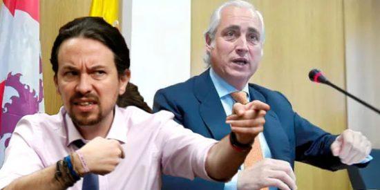"""El presidente del TSJCyL afirma que Iglesias y PCE ponen la democracia en """"solfa"""" y Podemos entra en cólera"""