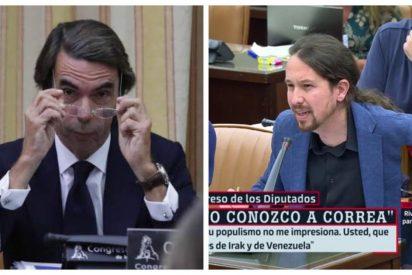 Aznar humilla a Iglesias: el expresidente derrota a Podemos en los tribunales