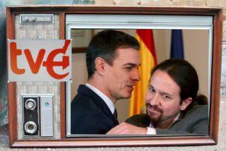 El nuevo logo 'comunista' de la TVE de Sánchez e Iglesias revienta las redes sociales